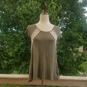 Maurices Olive Lace Tunic